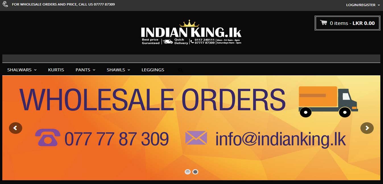 IndianKing.lk E-Commerce